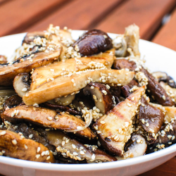 Grilled Mixed Mushrooms With Sesame Dressing Recipe