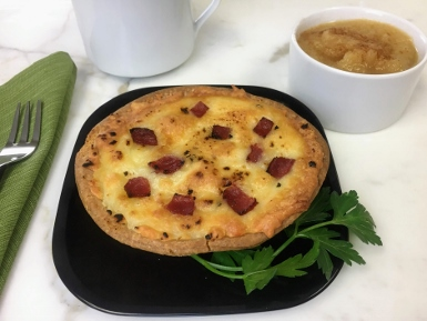 Turkey Bacon and Egg Pot Pie